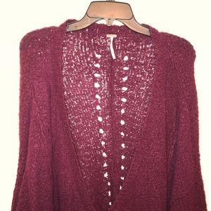 Free People Baggy Purple Sweater